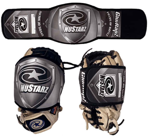 NuStarz-Baseball-Glove-Wraps-GluvRapz - Deeds-of-Valor