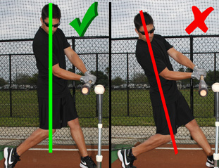 Baseball hitting drill that addresses the tendancy to collapse the backside